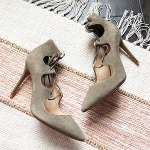 New Raye Suede Lace Up Heels